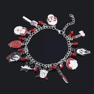 Halloween Horror Movie Fandom Charm Bracelet